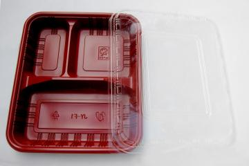 3-partition tray & lid