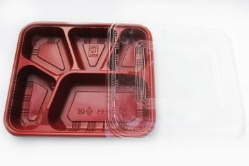 5-partition tray & lid